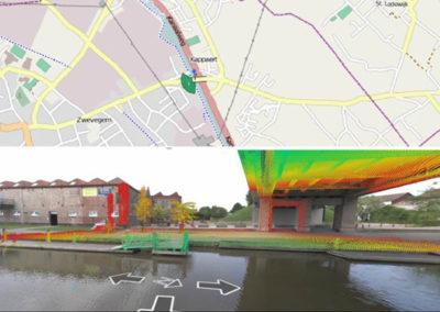 Mobile Mapping van de bevaarbare waterwegen in Vlaanderen