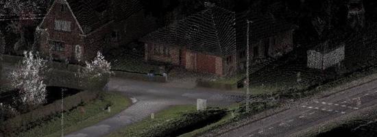 mobile mapping straat met woningen