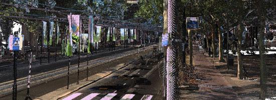 3D puntenwolk tramlijn